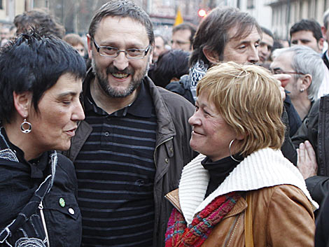 Arantza Zulueta, a la derecha, junto a 'Txelui' Moreno. | Justy