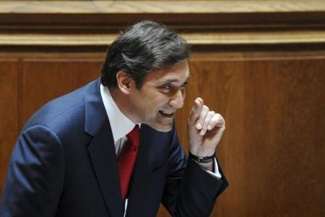 El primer ministro luso en el Parlamento. | Afp