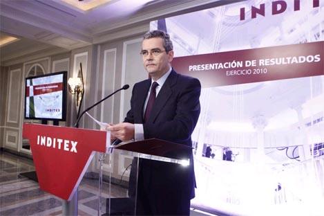 Pablo Isla en la presentación resultados de Inditex de 2010 | Óscar Monzón