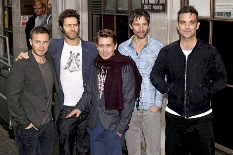 Los miembros de Take That, el invierno pasado. | AP