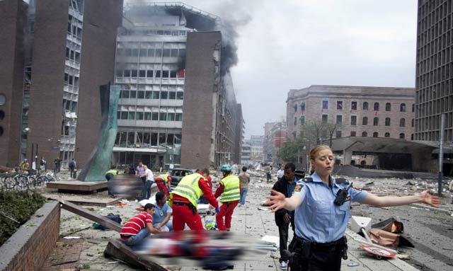 Edificios gubernamentales afectados por la explosión. | Aftenposten MÁS FOTOS