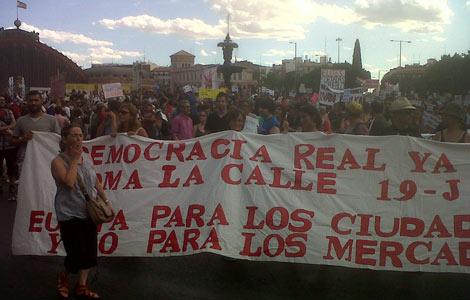 Los indignados, en Atocha. | S. L.