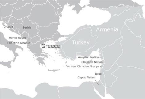 Mapa de una Europa reformada según Behring.