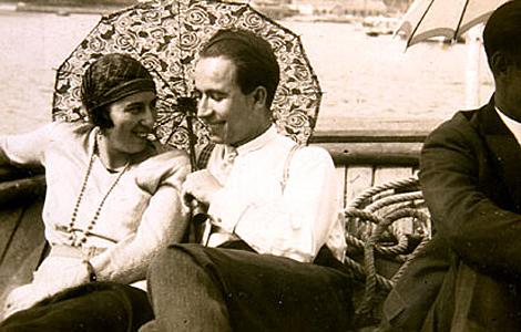 El politico ourensano junto a su esposa, Amalia Álvarez Gallego.
