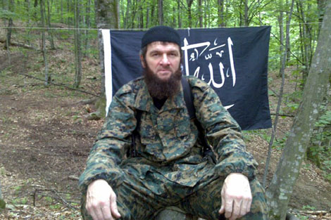 Una imagen del insurgente islamista Doku Umarov, de abril de 2010. | Afp