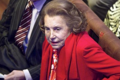 La multimillonaria octogenaria, Liliane Bettencourt.