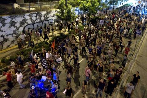 Manifestación contra la subida de los precios de la vivienda en Tel Aviv, Israel. | Afp