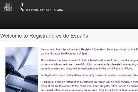 Nuevo sitio web en inglés de los Registradores.