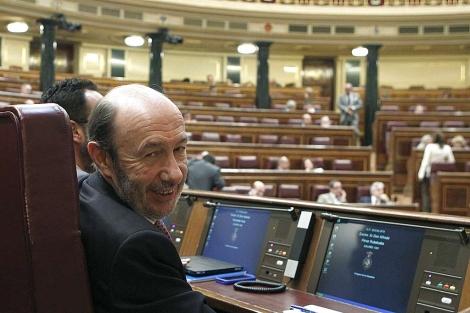 Alfredo Pérez Rubalcaba en el Congreso. | Efe