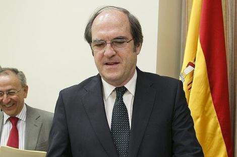El ministro de Educación, Ángel Gabilondo, en un acto en el Congreso. | Efe