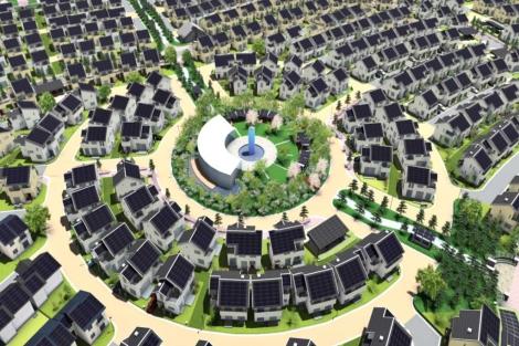 Uno de los cuatro proyectos japoneses de ciudades inteligentes en Fujisawa.   Panasonic