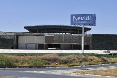 El parque Nevada de Armilla, con el cartel del centro comercial. | Efe