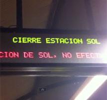Cierran la estación de metro.