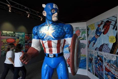 Imagen de una de las exposiciones de superhéroes del Museo de las Ciencias.