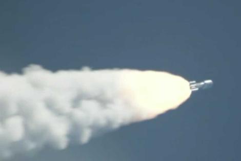 La sonda viaja en el cohete Atlas V 551. | NASA.