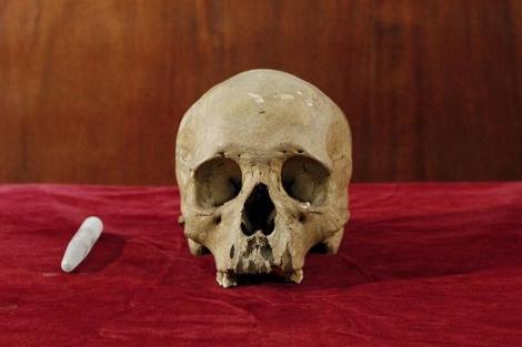 Cráneo de un humano americano.| EFE