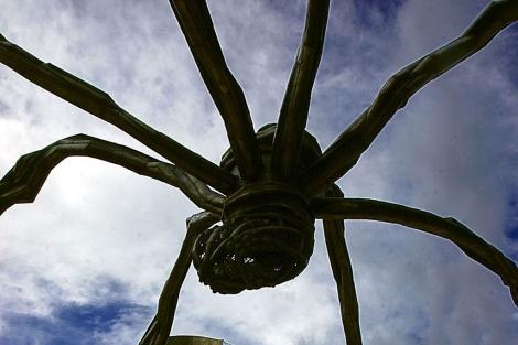 La escultura gigante cuando estuvo expuesta en Bilbao. |Iñaki Andres