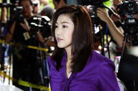Yingluck Shinawatra, del Puea Thai, en Bangkok. | AP