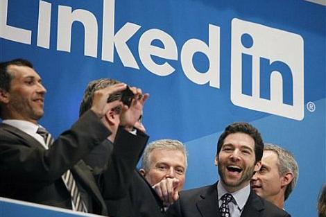 El consejero delegado de Linkedin, Jeff Weiner en la salida a Bolsa del grupo. | AP