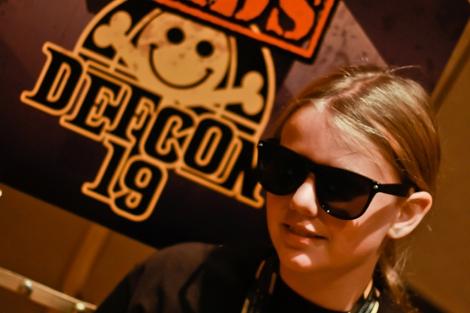 CyFi durante el Defcon | Foto: Cnet