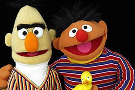 Las populares marionetas de 'Barrio Sésamo', Epi y Blas.
