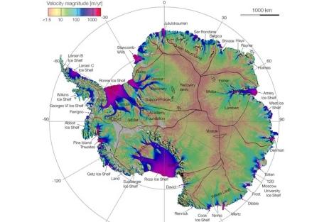 El nuevo mapa de la Antártida. | NASA.