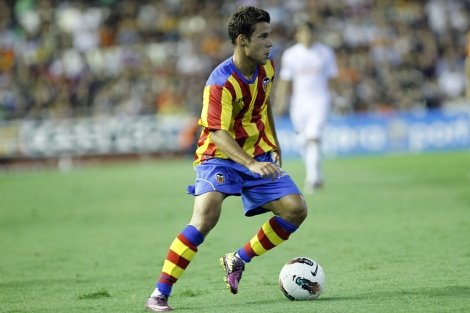 Juan Bernat, durante el partido del Trofeo Naranja en Mestalla. | Vicent Bosch
