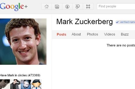 Cuenta verificada de Mark Zuckerberg