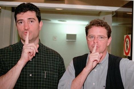 Guillermo Fesser y Juan Luis Cano, el dúo Gomaespuma | Foto: Ángel Casaña