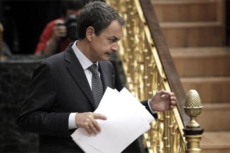 El presidente del Gobierno tras su intervención en el pleno extraordinario | E. Naranjo