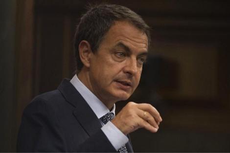 José Luis Rodríguez Zapatero en el Congreso.  Reuters