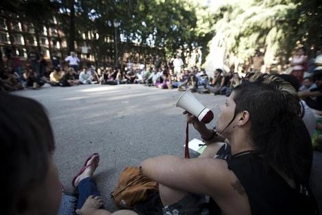 Una de las afectadas relata su versión en la Asamblea del 15-M.| Roberto Cárdenas
