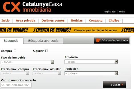 Portal inmobiliario de CatalunyaCaixa, CXinmobiliaria.