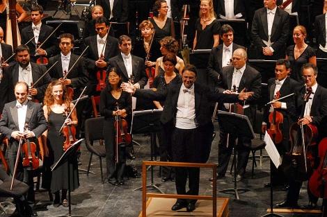 La Sinfónica de Galicia, en una actuación en Buenos Aires. | OSG