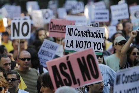 Un momento de la marcha celebrada en Madrid contra la reforma. | A. di Lolli