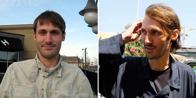 El periodista Matthew VanDyke, antes de ir a Libia (izda.) y tras ser liberado de la prisión de Abu Salim. | Ap