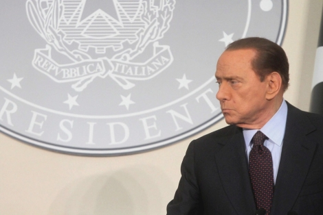 El primer ministro italiano, Silvio Berlusconi, en Milán.   Efe