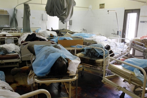 Varios muertos en el hospital Abu Salim de Trípoli. | AP