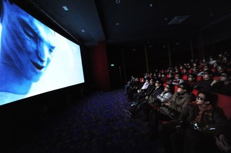 Estreno de la película 3-D 'Avatar' en China.   AFP