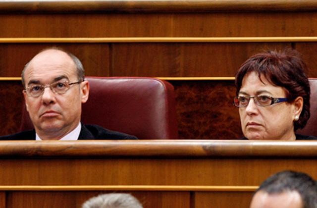 Francisco Jorquera y Olaia Fernández en el Congreso. | BNG