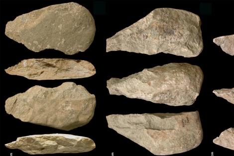 Varias de las herramientas de piedra de hace 1,7 millones de años. 'Nature'