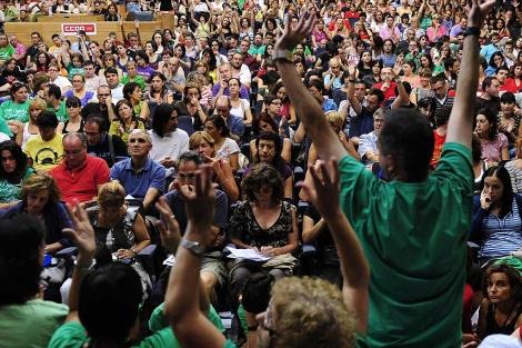 Asamblea de profesores de secundaria| Bernardo Díaz