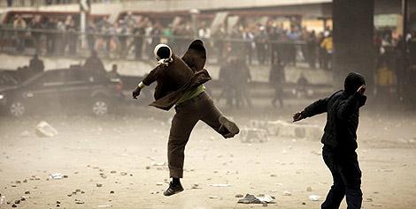 Manifestantes en la Plaza de Tahrir de El Cairo, en junio. | Efe