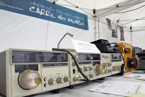 Exposición de aparatos en el Encontro de Embarcacións Tradicionais de Carril. | Asorapa