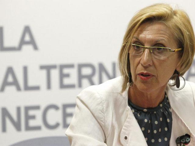 Rosa Díez durante la rueda de prensa celebrada tras el Consejo Político. | Efe