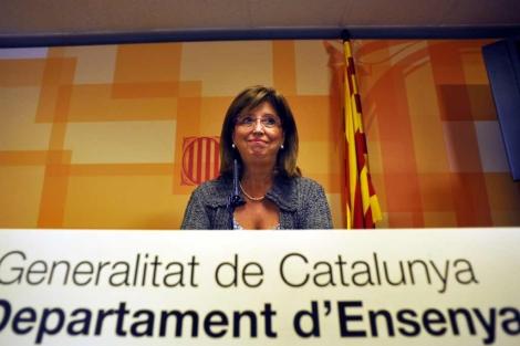 La consellera de Ensenyament, en la rueda de prensa del pasado viernes. | Santi Cogolludo
