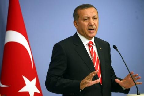 Erdogan pronunciando unas palabras en un discurso en Ankara. | Afp