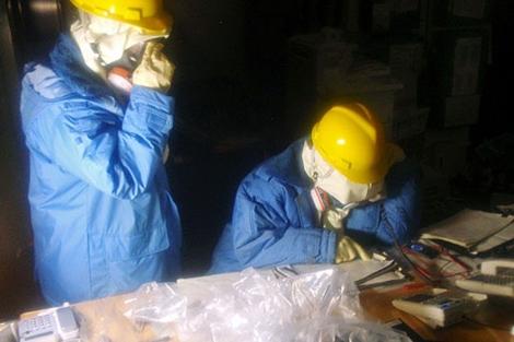 Imagen de los trabajadores de Fukushima. | Ap