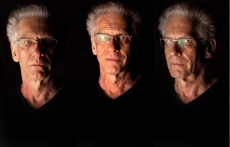 Tres retratos de David Cronenberg, esta semana, en Venecia.   AP