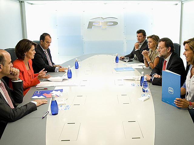 Reunión del PP con UPN esta mañana. / PP